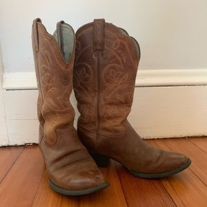 Brown Leather Ariat Women's Heritage Western Boots